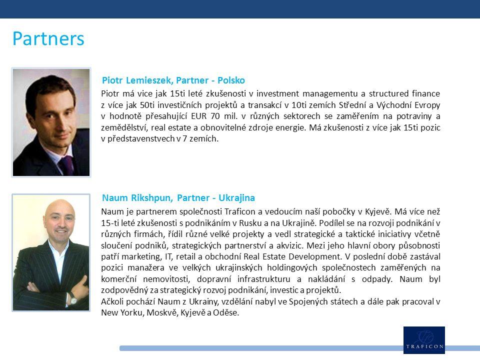 Piotr má vice jak 15ti leté zkušenosti v investment managementu a structured finance z více jak 50ti investičních projektů a transakcí v 10ti zemích Střední a Východní Evropy v hodnotě přesahující EUR 70 mil.