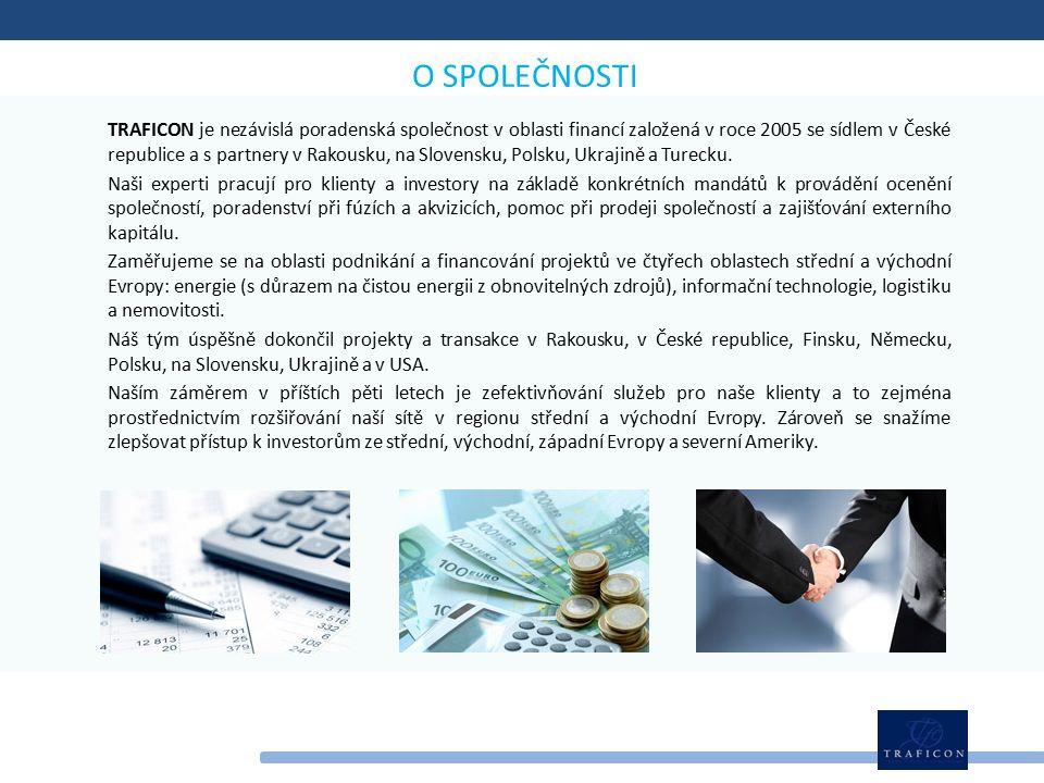TRAFICON je nezávislá poradenská společnost v oblasti financí založená v roce 2005 se sídlem v České republice a s partnery v Rakousku, na Slovensku, Polsku, Ukrajině a Turecku.