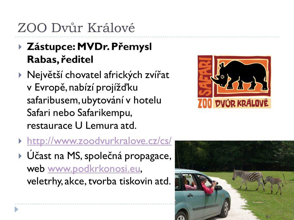 ZOO Dvůr Králové  Zástupce: MVDr.