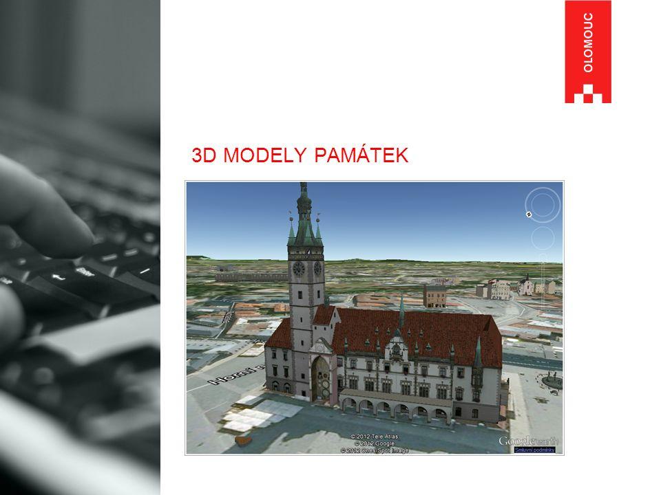 3D MODELY PAMÁTEK