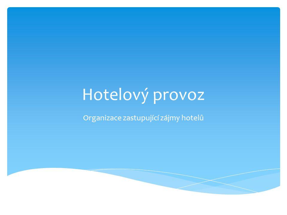 Hotelový provoz Organizace zastupující zájmy hotelů