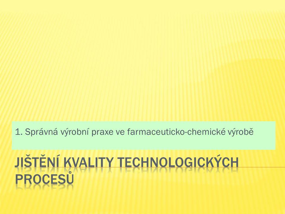1. Správná výrobní praxe ve farmaceuticko-chemické výrobě