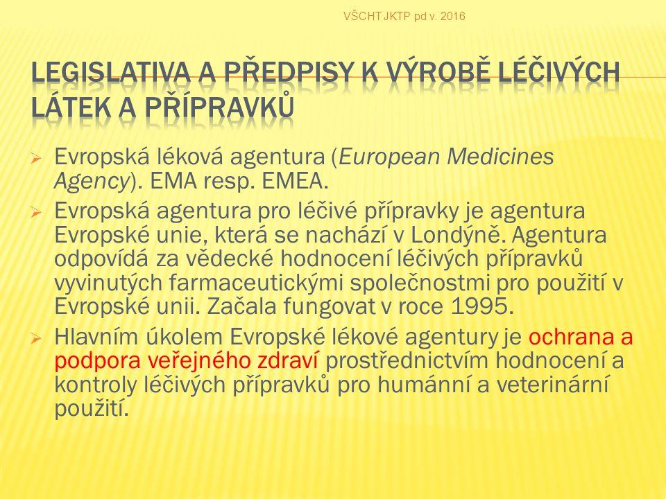  Evropská léková agentura (European Medicines Agency).