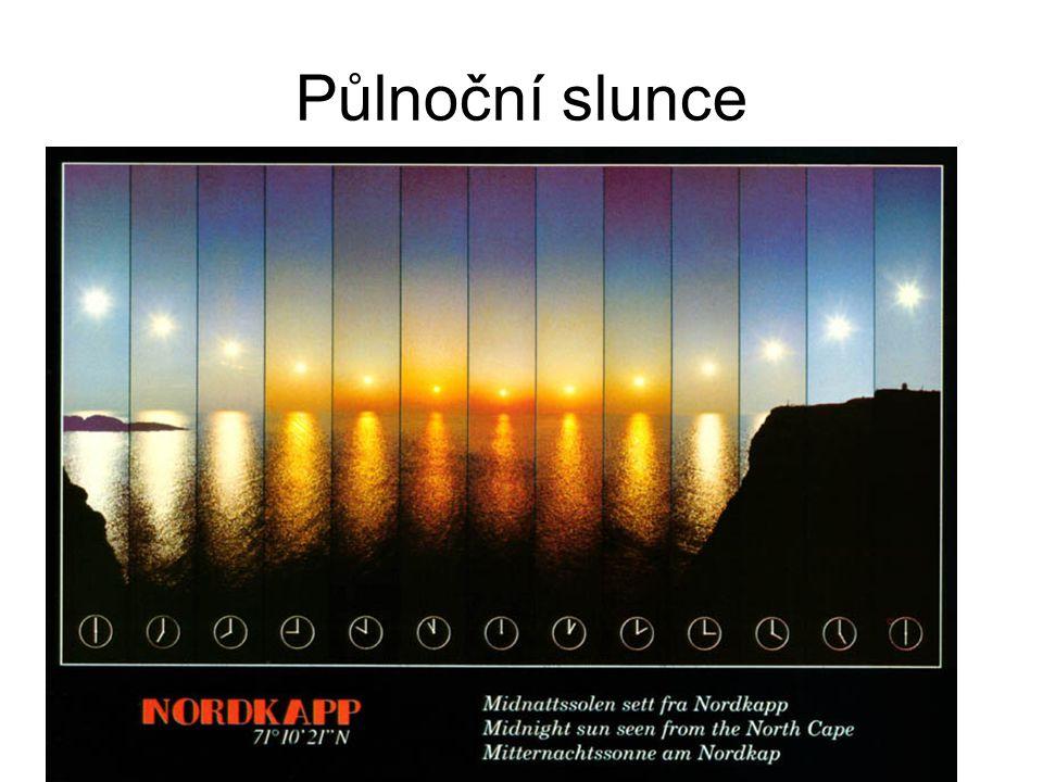 Půlnoční slunce Půlnoční Slunce je jev vyskytující se za polárním kruhem.