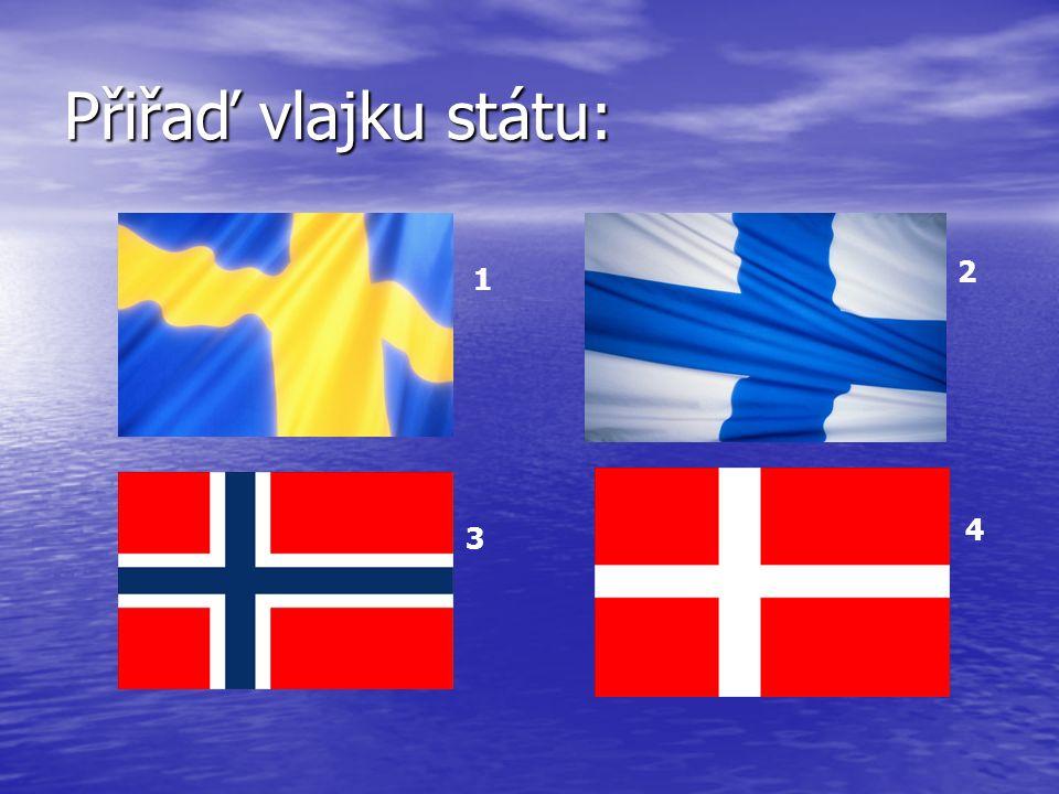 Přiřaď vlajku státu: 1 2 3 4