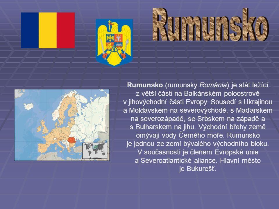 Rumunsko (rumunsky România) je stát ležící z větší části na Balkánském poloostrově v jihovýchodní části Evropy.