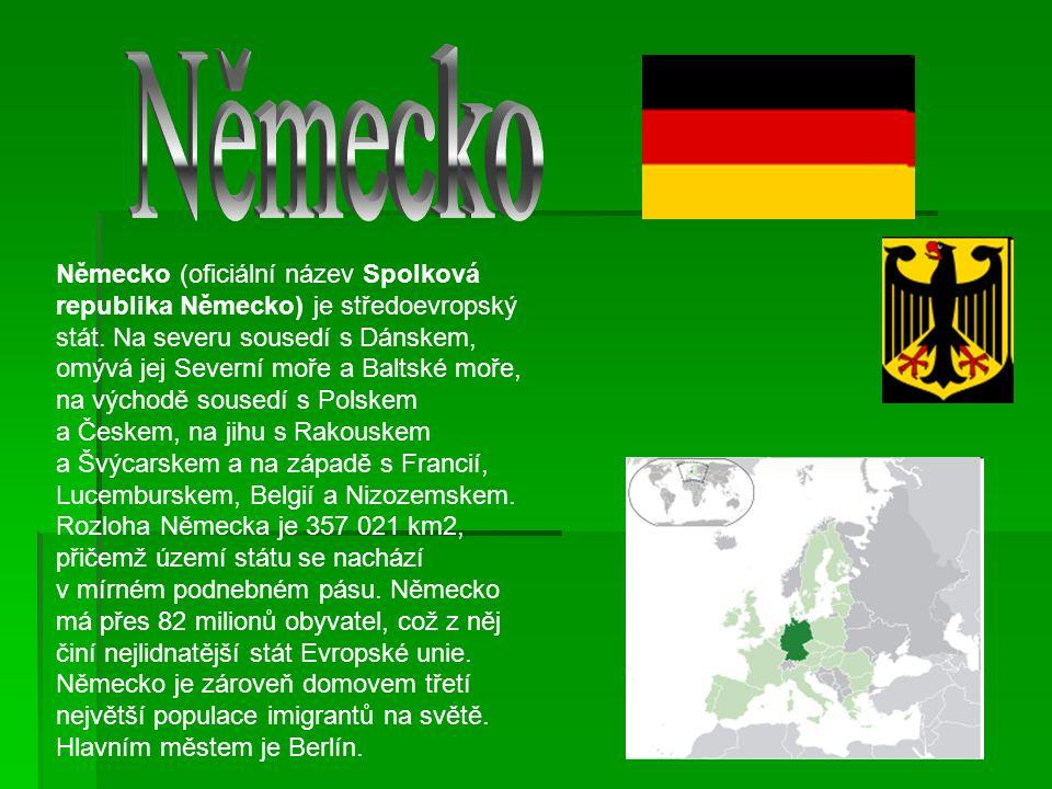 Německo (oficiální název Spolková republika Německo) je středoevropský stát.