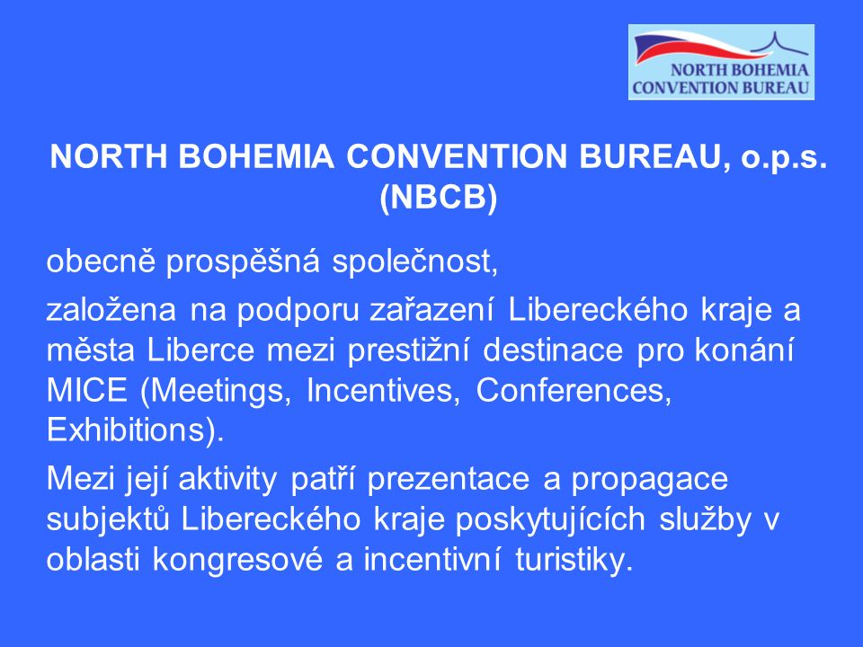 NORTH BOHEMIA CONVENTION BUREAU, o.p.s.