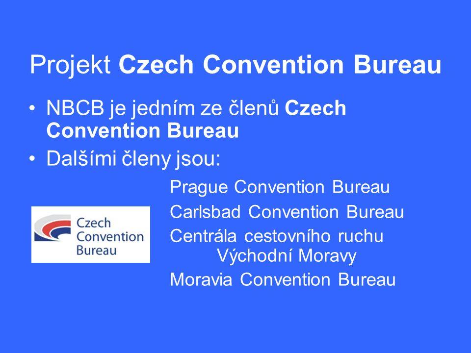 Projekt Czech Convention Bureau NBCB je jedním ze členů Czech Convention Bureau Dalšími členy jsou: Prague Convention Bureau Carlsbad Convention Burea
