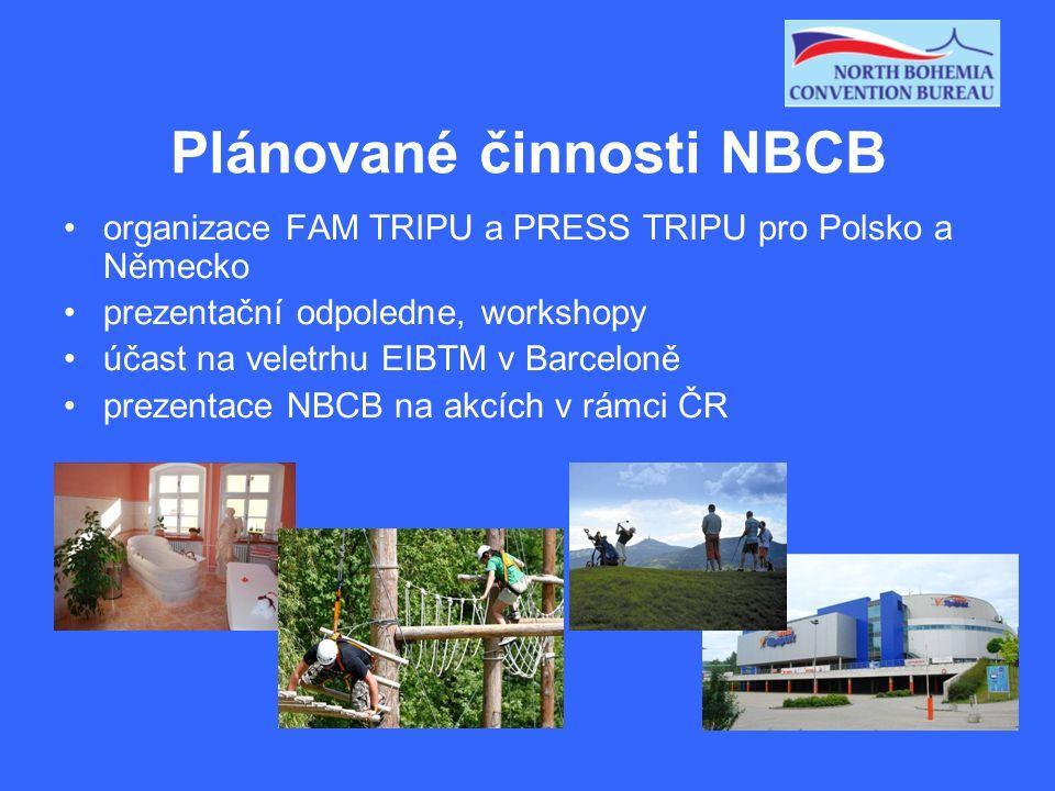 Plánované činnosti NBCB organizace FAM TRIPU a PRESS TRIPU pro Polsko a Německo prezentační odpoledne, workshopy účast na veletrhu EIBTM v Barceloně p