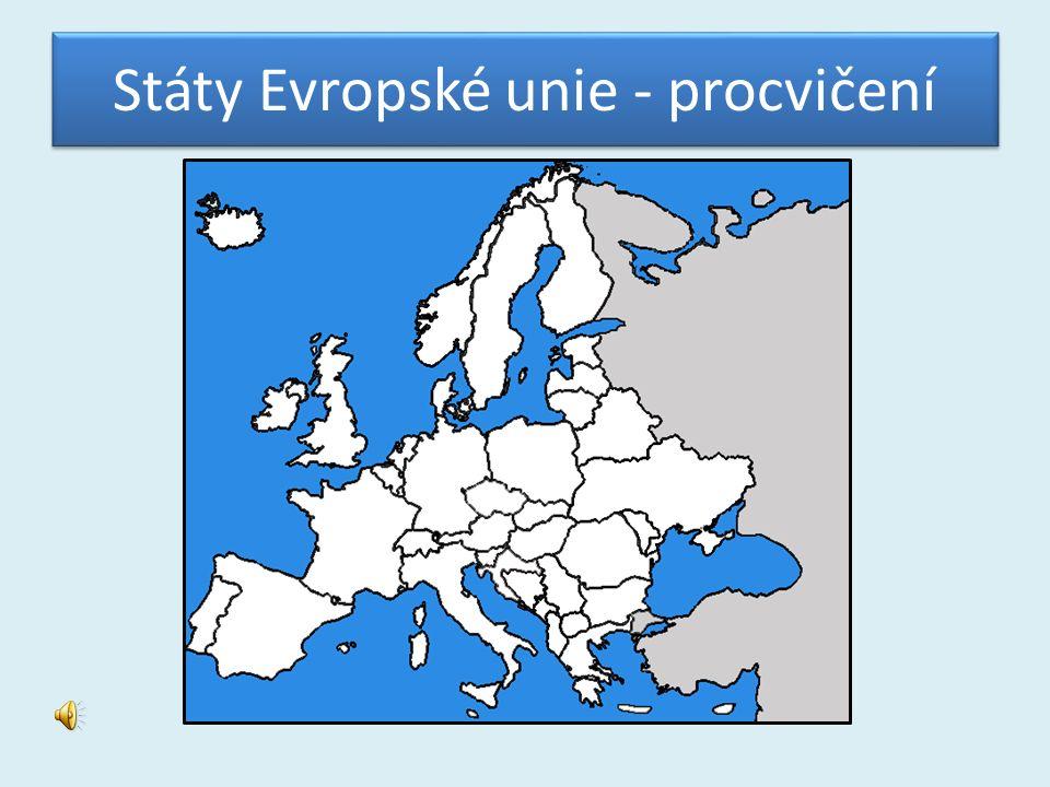 Státy Evropské unie - procvičení