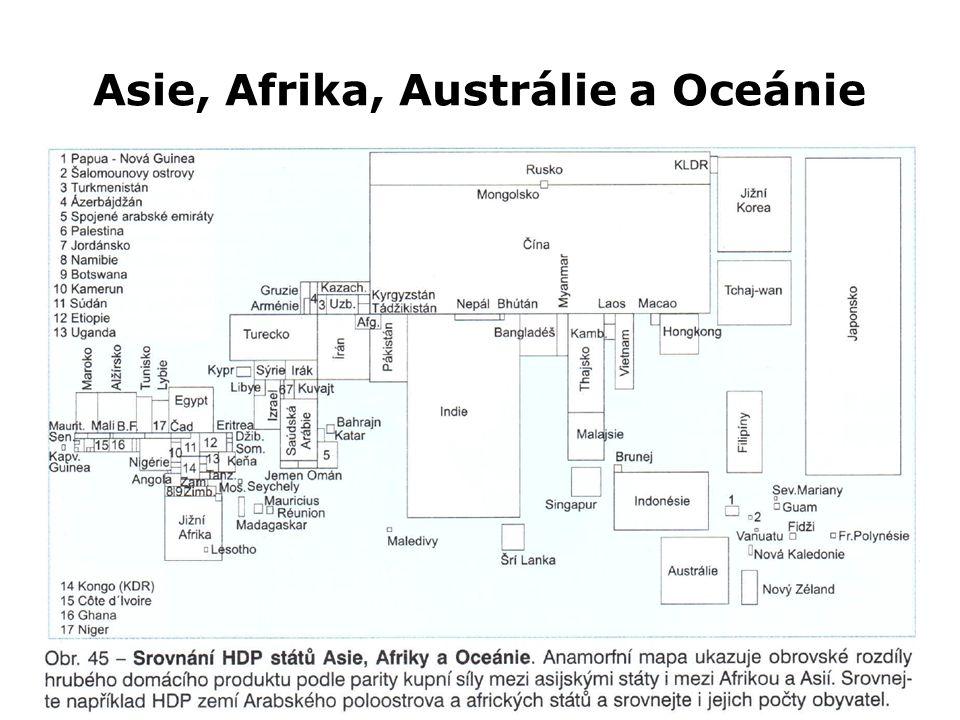 Asie, Afrika, Austrálie a Oceánie Z0047 Geografie průmyslu a zemědělství