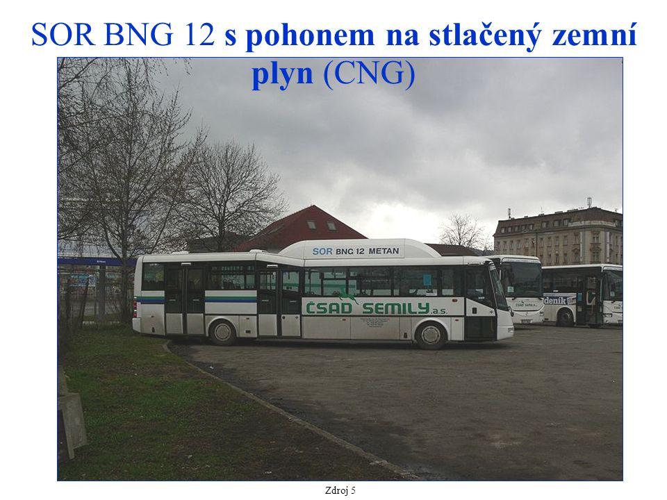Zdroj 5 SOR BNG 12 s pohonem na stlačený zemní plyn (CNG)