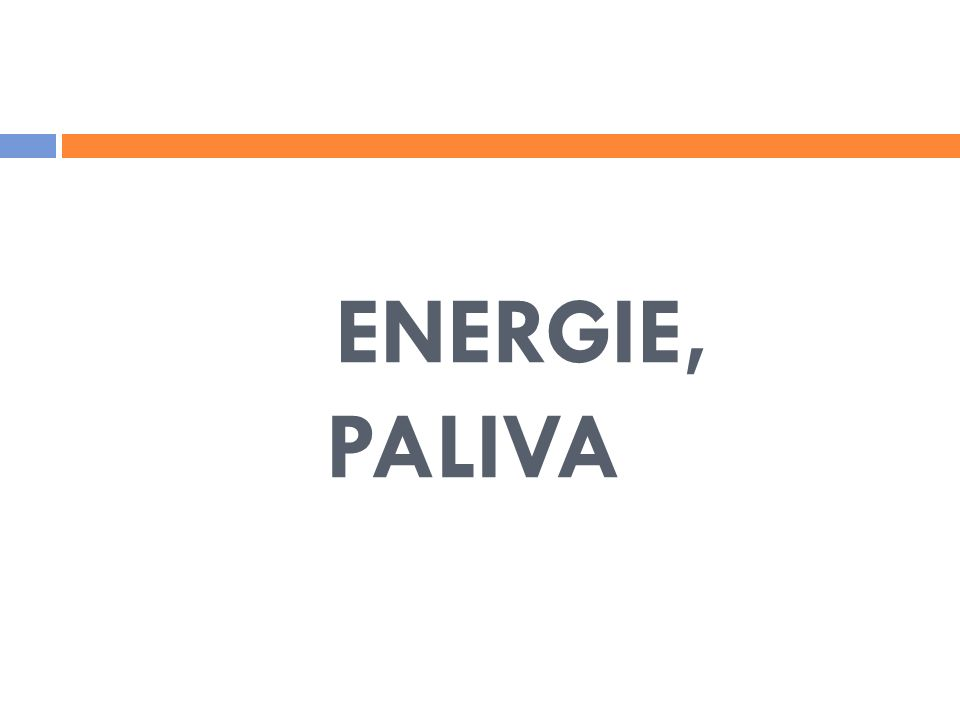 ENERGIE, PALIVA