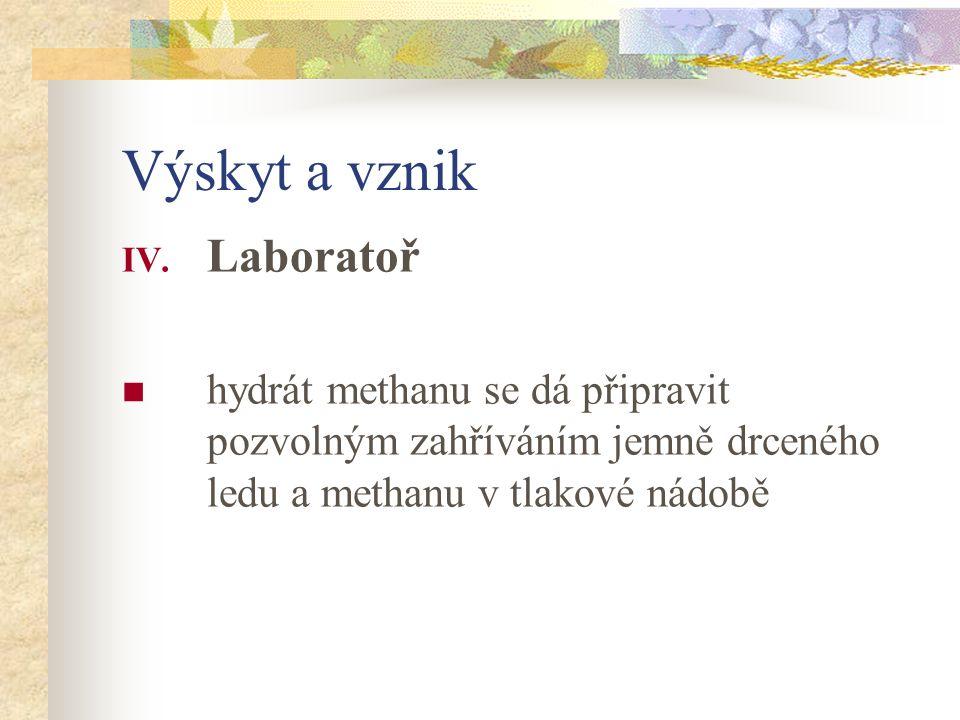 Výskyt a vznik IV.