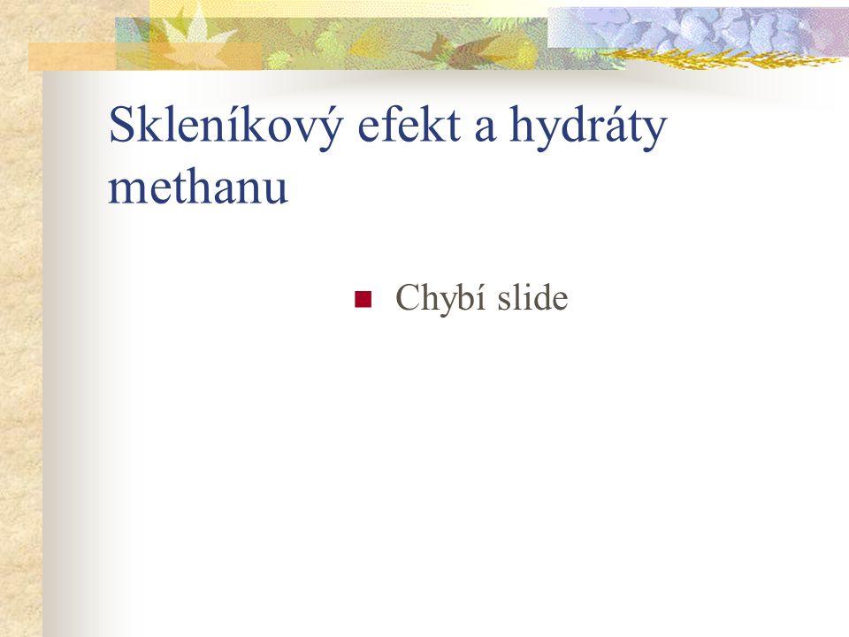 Skleníkový efekt a hydráty methanu Chybí slide