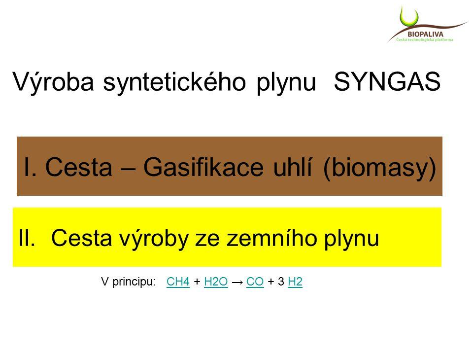 I. Cesta – Gasifikace uhlí (biomasy) II.