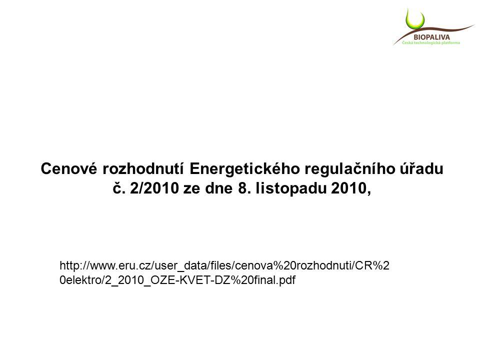 Cenové rozhodnutí Energetického regulačního úřadu č.