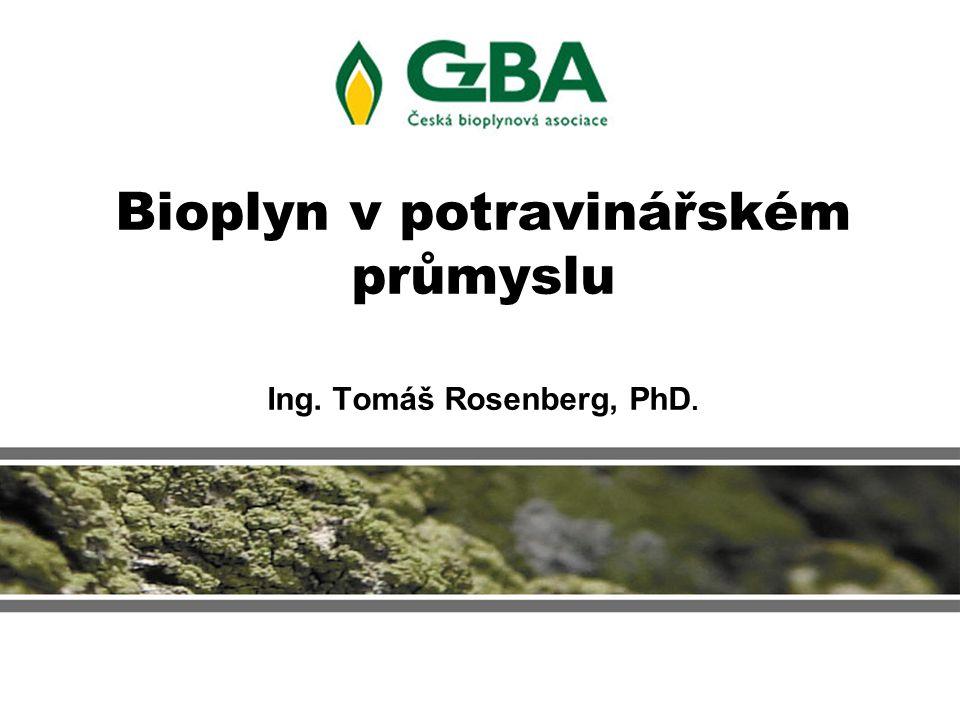 Bioplyn v potravinářském průmyslu Ing. Tomáš Rosenberg, PhD.