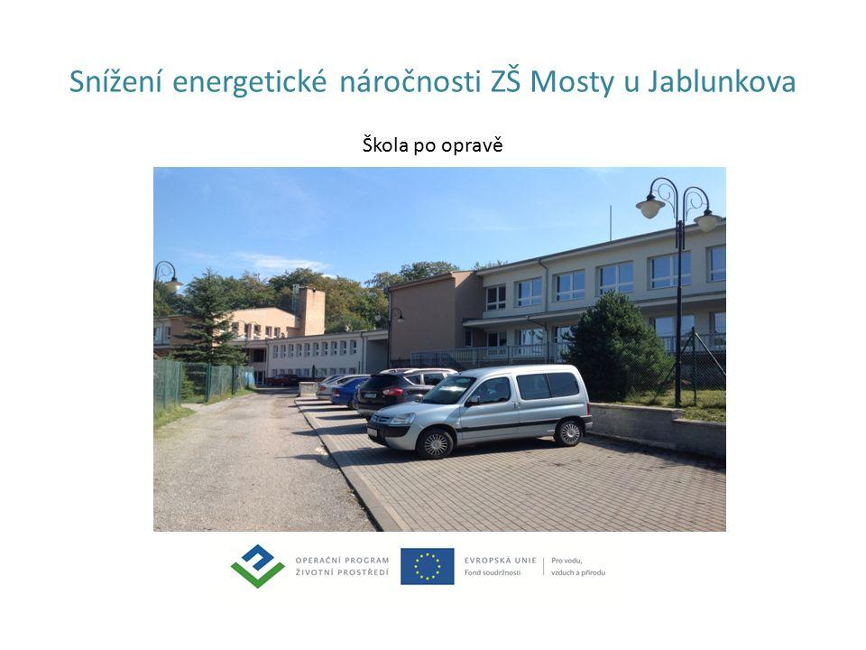 Snížení energetické náročnosti ZŠ Mosty u Jablunkova Škola po opravě