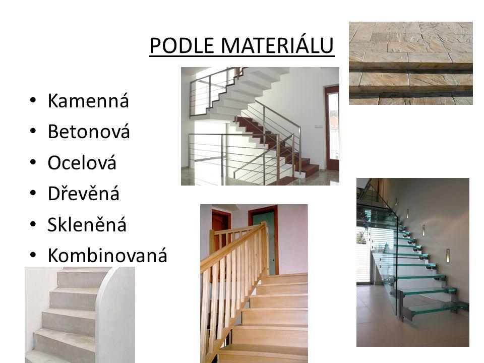 PODLE MATERIÁLU Kamenná Betonová Ocelová Dřevěná Skleněná Kombinovaná