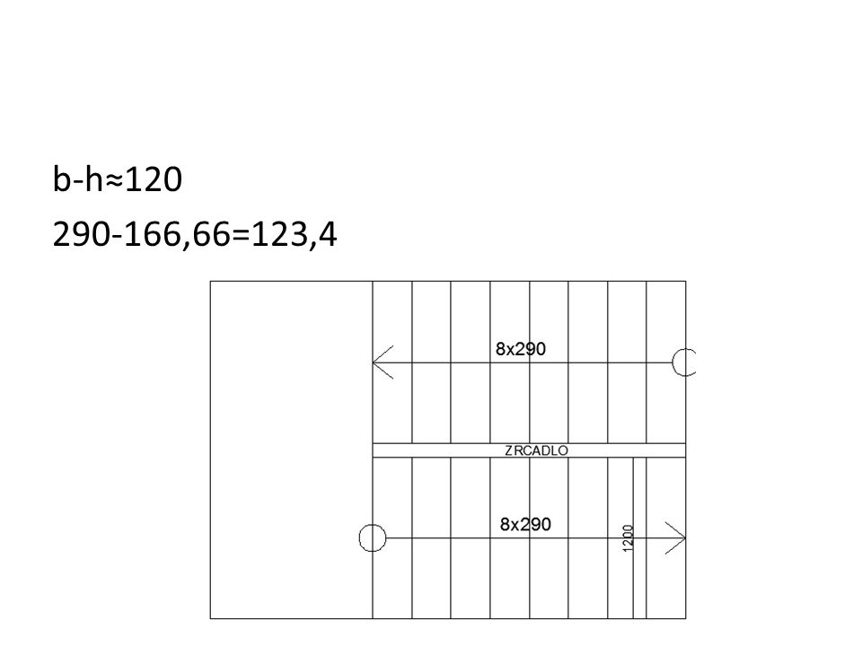 b-h≈120 290-166,66=123,4