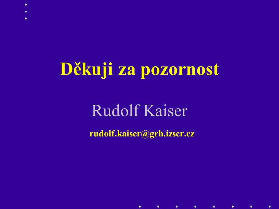 Děkuji za pozornost Rudolf Kaiser rudolf.kaiser@grh.izscr.cz