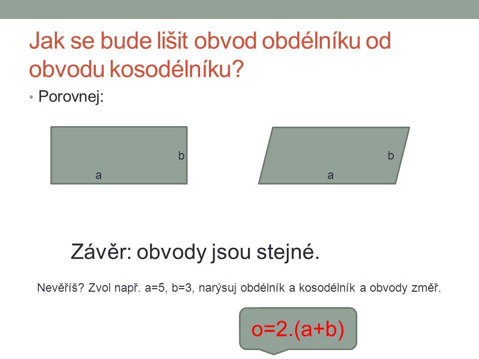 Obsah kosodélníku.Nejdříve si zopakujte, co je výška kosodélníku.