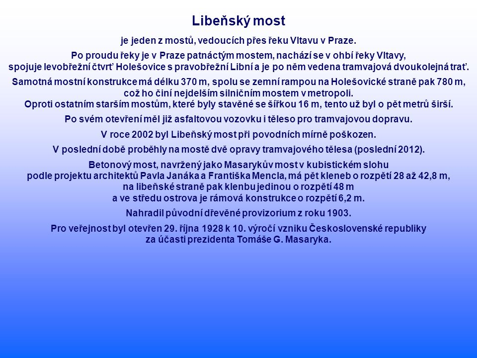 Libeňský most