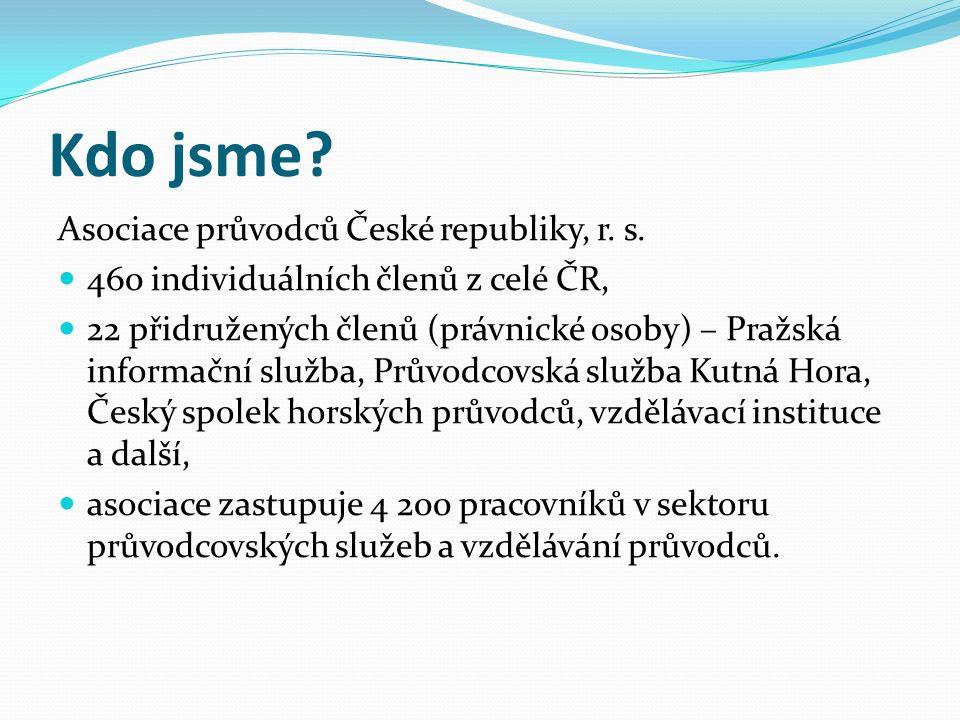 Kdo jsme. Asociace průvodců České republiky, r. s.