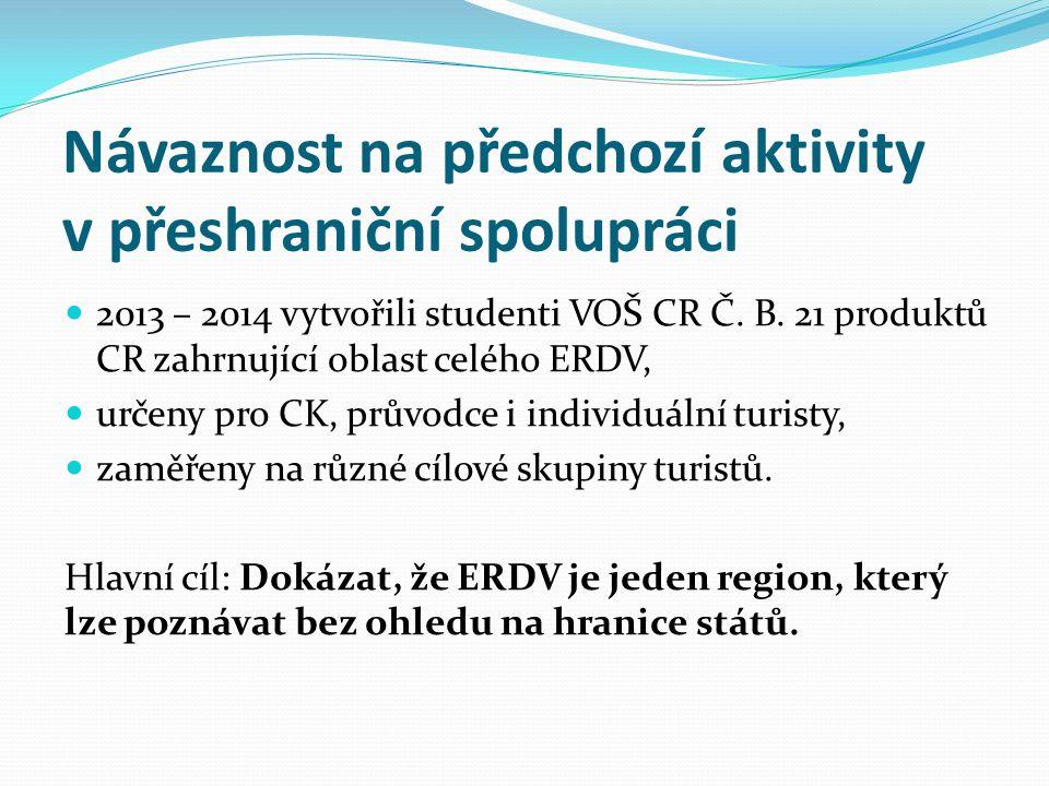 Návaznost na předchozí aktivity v přeshraniční spolupráci 2013 – 2014 vytvořili studenti VOŠ CR Č.