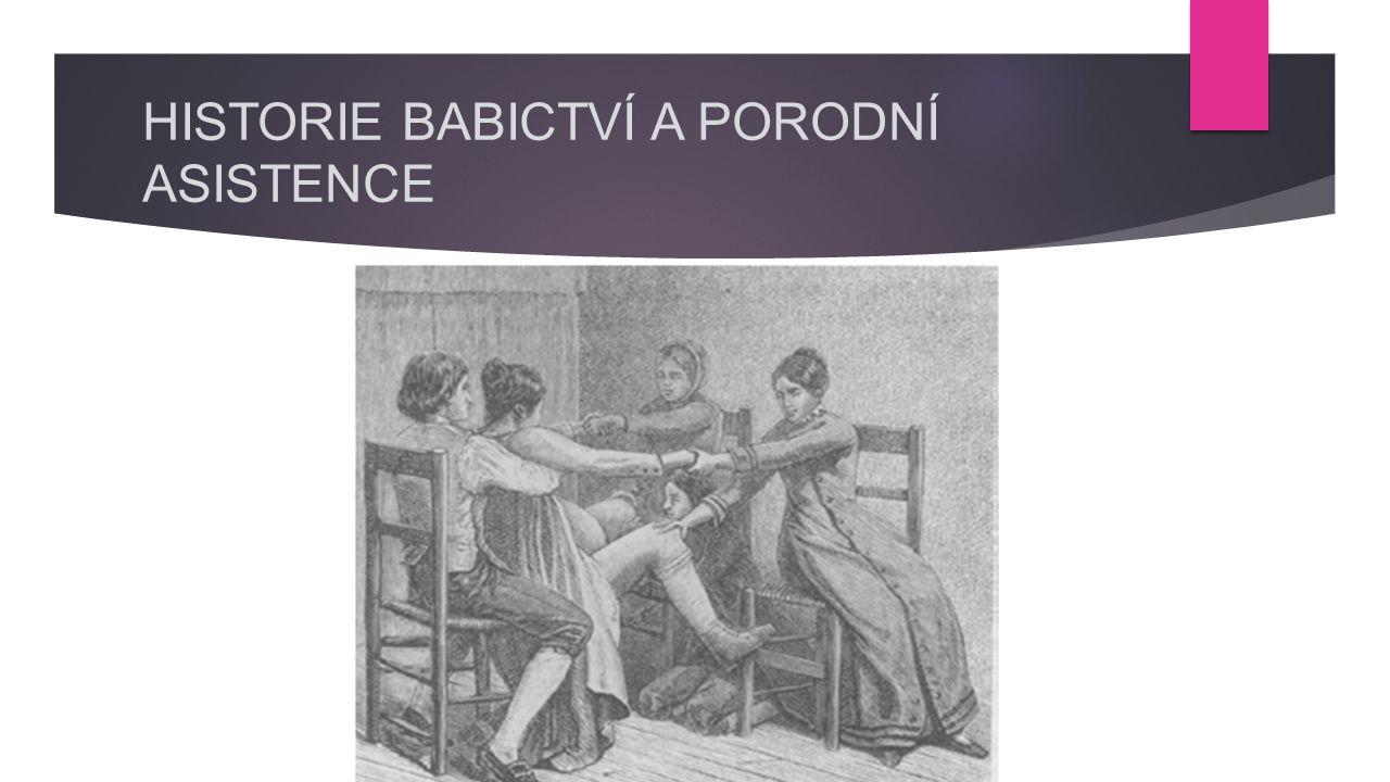  OD BABICTVÍ K PORODNICTVÍ  Starý zákon – popis praxe porodnických bab a židovských žen  Řecký gynekolog Soranos z Efesu 98- 138 n.