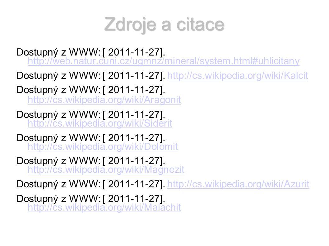 Zdroje a citace Dostupný z WWW: [ 2011-11-27].