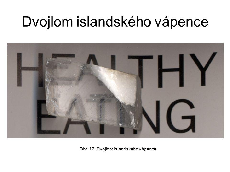 Dvojlom islandského vápence Obr. 12: Dvojlom islandského vápence