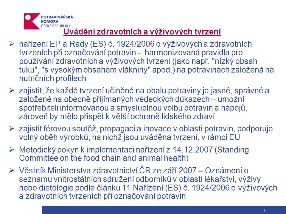 Užitečné odkazy www.foodnet.cz www.gda.cz www.nutricnibublina.cz www.mze.cz http://www.unmz.cz/urad/unmz www.agronavigator.cz http://www.szpi.gov.cz/ http://www.biospotrebitel.cz/page.php?selected=1275 http://www.codexhttp://www.codexalimentarius.net http://ec.europa.eu/index_cs.htm http://eur-lex.europa.eu/cs/index.htm http://www.europarl.europa.eu/ http://www.efsa.europa.eu/EFSA/efsa_locale-1178620753812_home.htm http://www.gdafacts.eu/asp2/guideline-daily-amounts.asp www.eufic.org