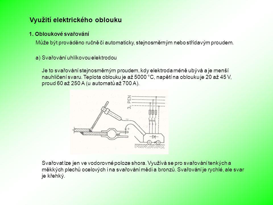 Využití elektrického oblouku 1.