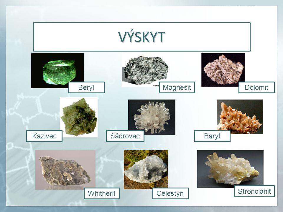 ZAJÍMAVOST Beryllium a jeho soli jsou rakovinotvorné.
