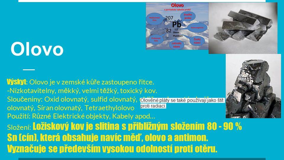 Zinek Vlastnosti Je amfoterní ( reaguje s kyselinami i hydroxidy) Za tepla se Zinek slučuje také se sírou a fosforem Práškový Zinek na vzduchu při zahřátí hoří jasně svítivým modrozeleným plamenem Neušlechtilý kov ( podobá se kadmium )
