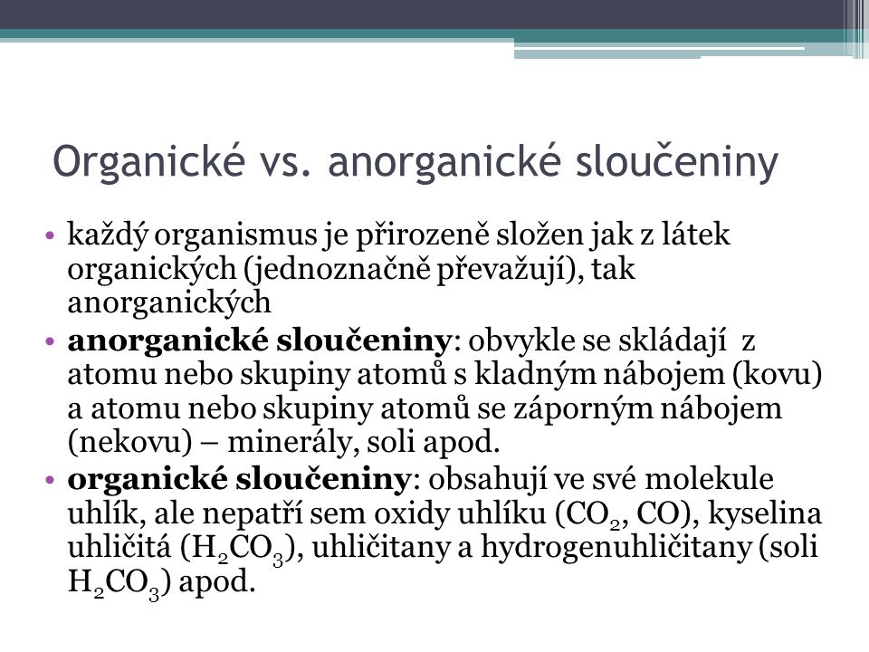 Organické vs.