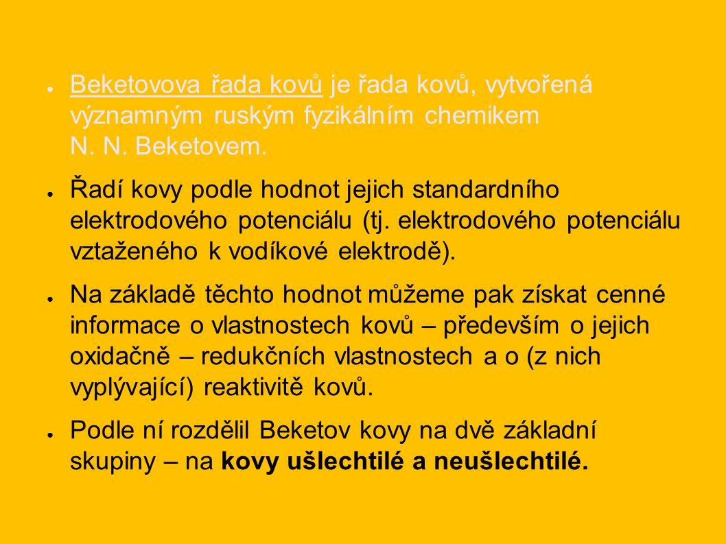 ● Beketovova řada kovů je řada kovů, vytvořená významným ruským fyzikálním chemikem N.