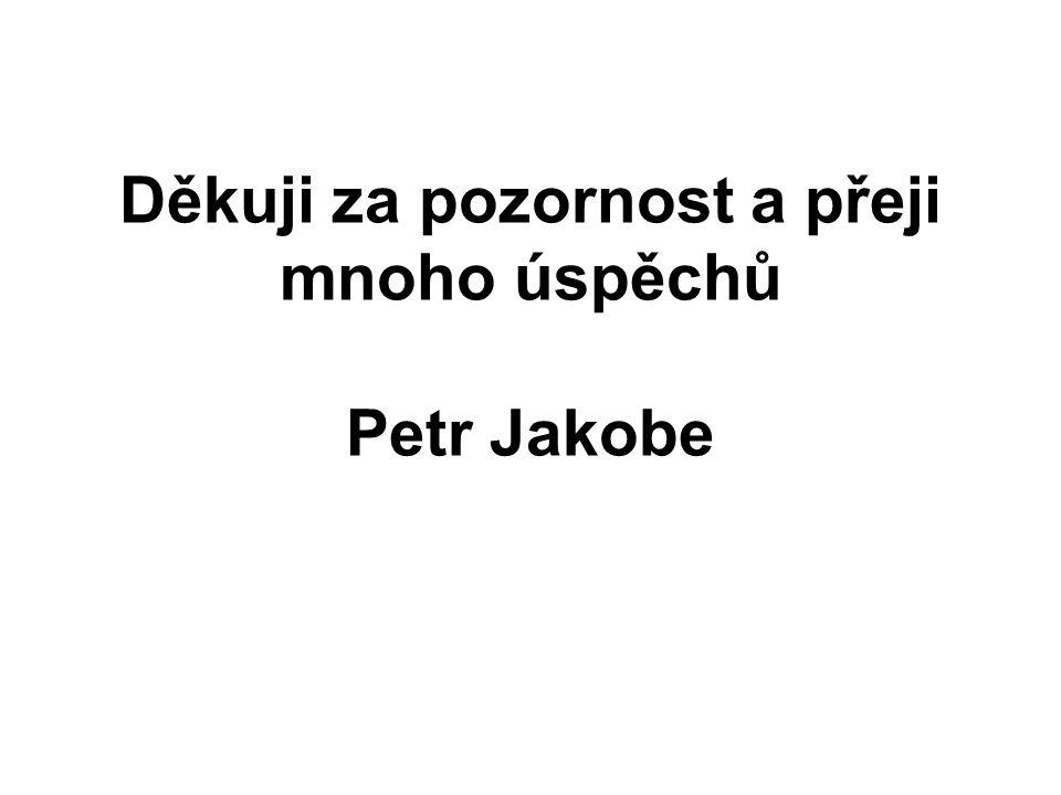 Děkuji za pozornost a přeji mnoho úspěchů Petr Jakobe