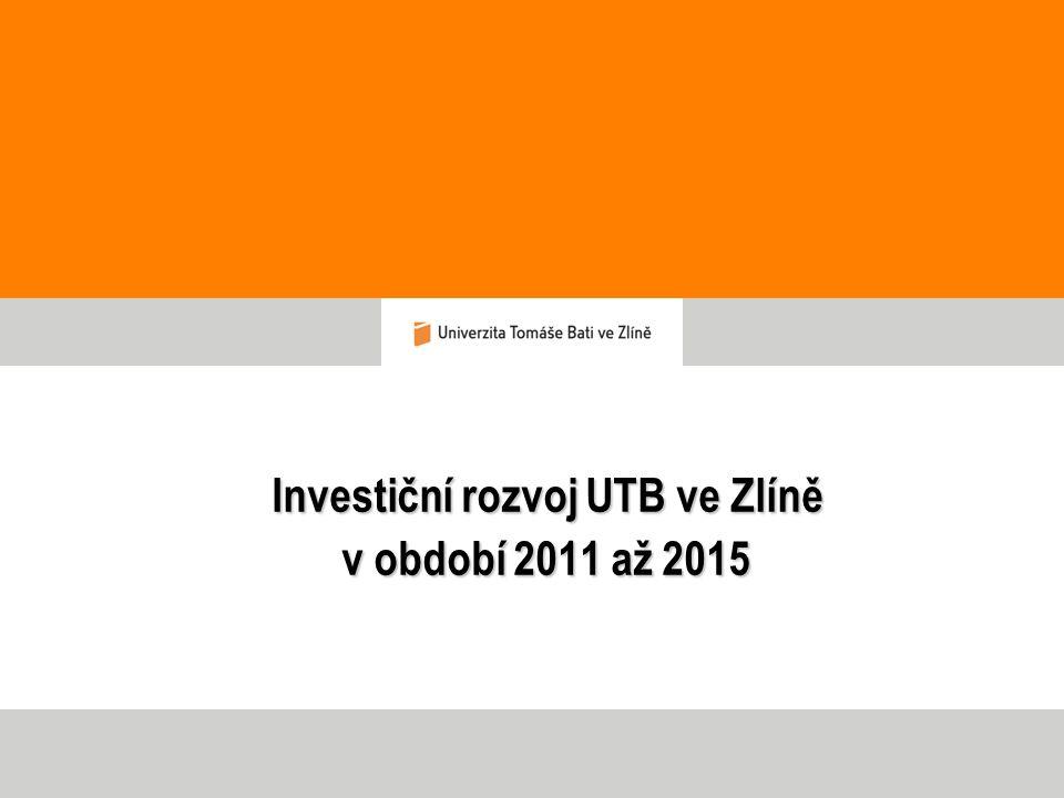 Investiční rozvoj UTB ve Zlíně v období 2011 až 2015 Investiční rozvoj UTB ve Zlíně v období 2011 až 2015