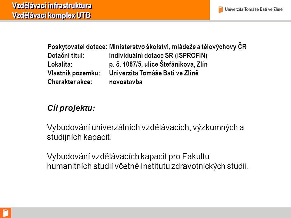 Poskytovatel dotace: Ministerstvo školství, mládeže a tělovýchovy ČR Dotační titul: individuální dotace SR (ISPROFIN) Lokalita: p.