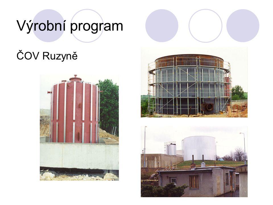 Výrobní program ČOV Ruzyně