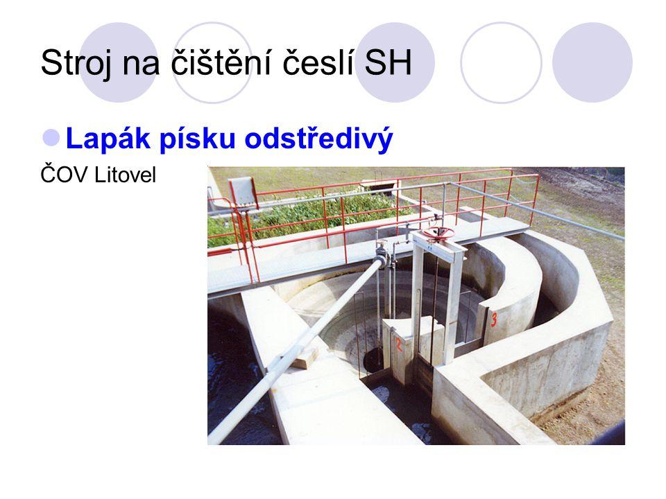 Stroj na čištění česlí SH Lapák písku odstředivý ČOV Litovel