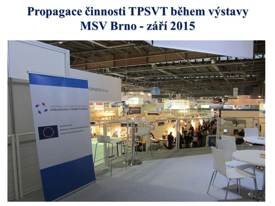 Propagace činnosti TPSVT během výstavy MSV Brno - září 2015
