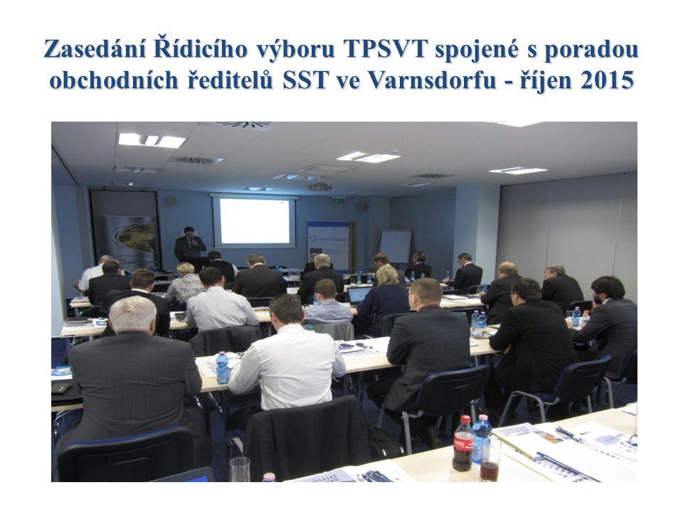 Zasedání Řídicího výboru TPSVT spojené s poradou obchodních ředitelů SST ve Varnsdorfu - říjen 2015