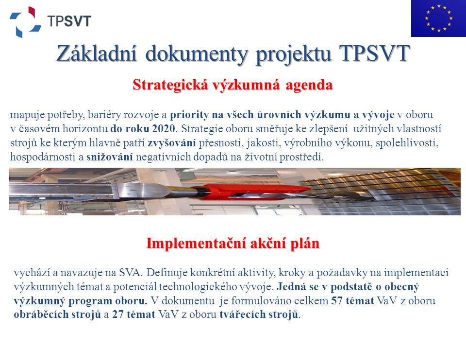 Základní dokumenty projektu TPSVT Strategická výzkumná agenda mapuje potřeby, bariéry rozvoje a priority na všech úrovních výzkumu a vývoje v oboru v časovém horizontu do roku 2020.
