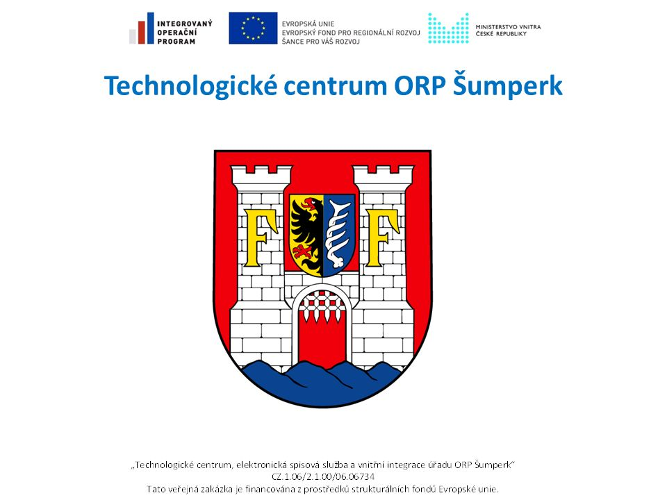 TC ORP Šumperk - historie Výzva IOP č.