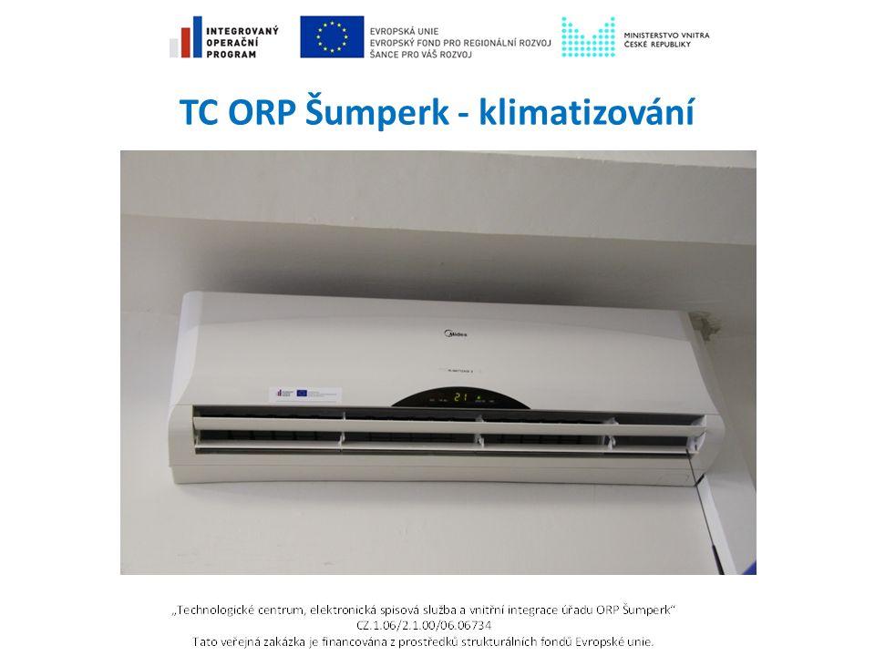 TC ORP Šumperk - klimatizování